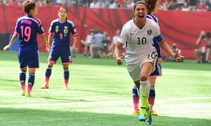 Carli Lloyd was named the Fifa women's player of the year after her exploits at the World Cup