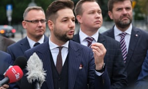 Patryk Jaki, a member of the rightwing Law and Justice (PiS) political party.