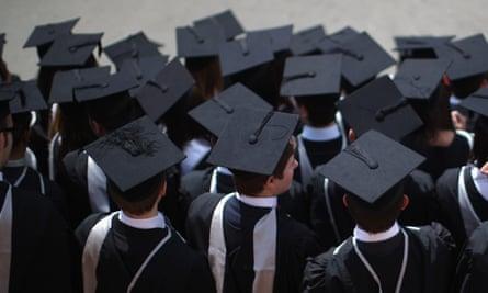University of Birmingham students attend graduation ceremonies in 2011.