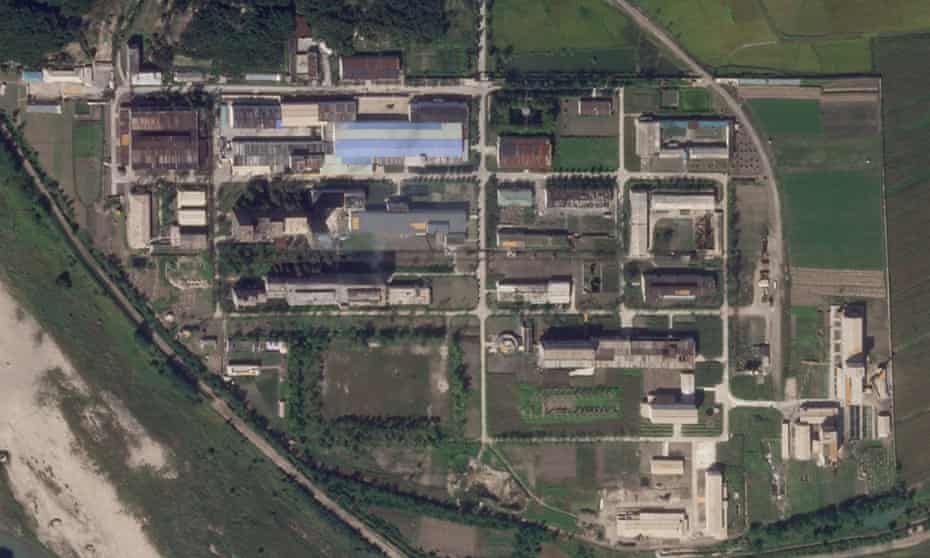 An 18 September satellite photo from Planet Labs Inc showing the uranium enrichment plant at North Korea's Yongbyon nuclear complex.