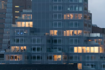 'Vertical village' … the apartments feel like being in a treehouse of glass and steel.