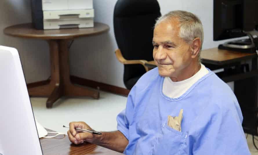 Sirhan Sirhan arrives for his parole hearing.