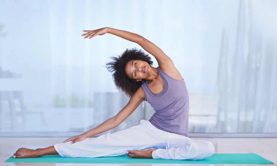 While you have your period, do low-impact exercise such as yoga.