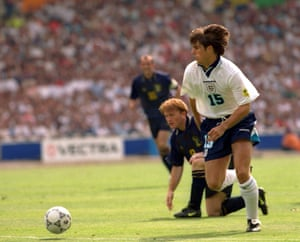 Jamie Redknapp literally gets away from Stuart McCall at Euro 96.