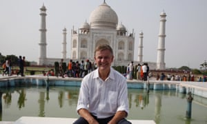 Head of UN Environment Erik Solheim visits the Taj Mahal in Agra for World Environment Day