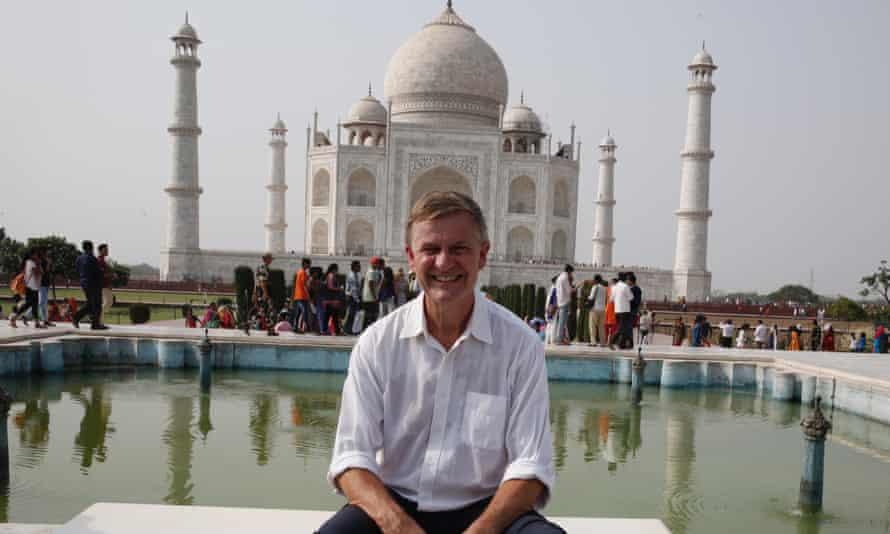 Head of UN Environment Erik Solheim visits the Taj Mahal in Agra for World Environment Day