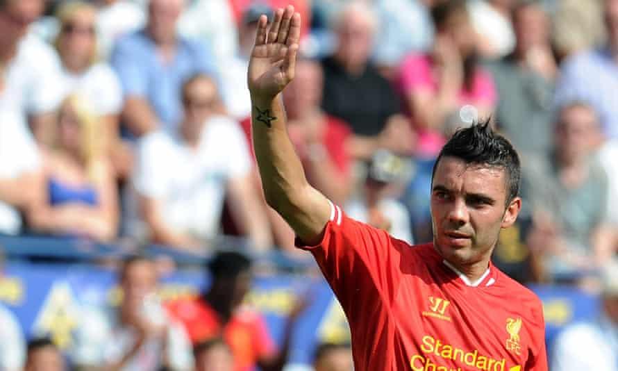 Iago Aspas playing for Liverpool