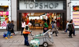 A Topshop and Topman store, owned by Arcadia Group, in central London today