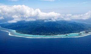 Rarotonga from the air