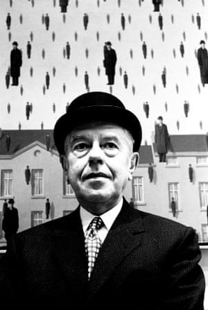 Rene Magritte at MOMA, New York, 1965