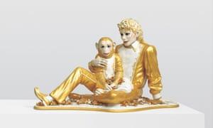 Jeff Koons' Michael Jackson and Bubbles, 1988, porcelain, 42 x 70 1/2 x 32 1/2 in.