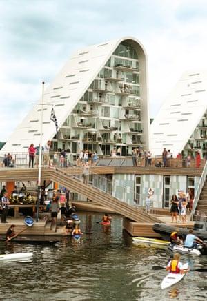 The floating kayak club, Vejle, Denmark.