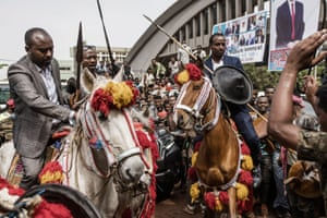 Men on horses in Jimma, Ethiopia