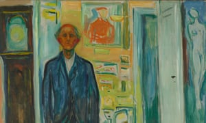 Mortal preoccupations … Edvard Munch's Self-Portrait Between the Clock and the Bed (1940-3).