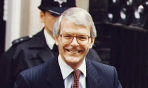 John Major leaves No 10 for the Commons debate on a confidence motion on 23 July 1993.