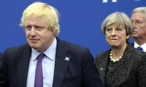 Boris Johnson and Theresa May.