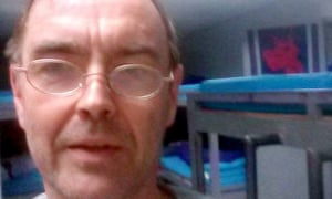 Agricultural consultant Wyn Ellis in detention at the airport in Thailand.
