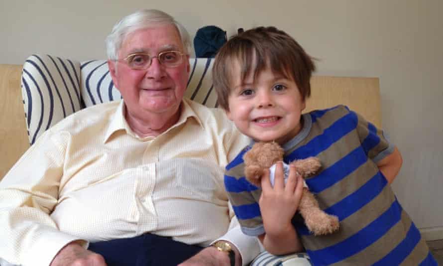 John Nettleton, with his grandson Stanley.