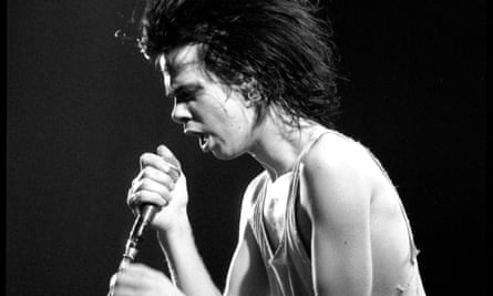 Cave performing with the Birthday Party in London, 26 November 1981.