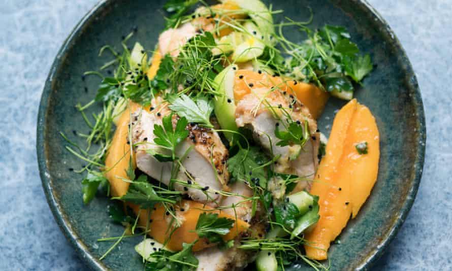 Roast chicken, mango and ginger salad
