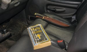One driver leaves out his Bible and a hunting knife.