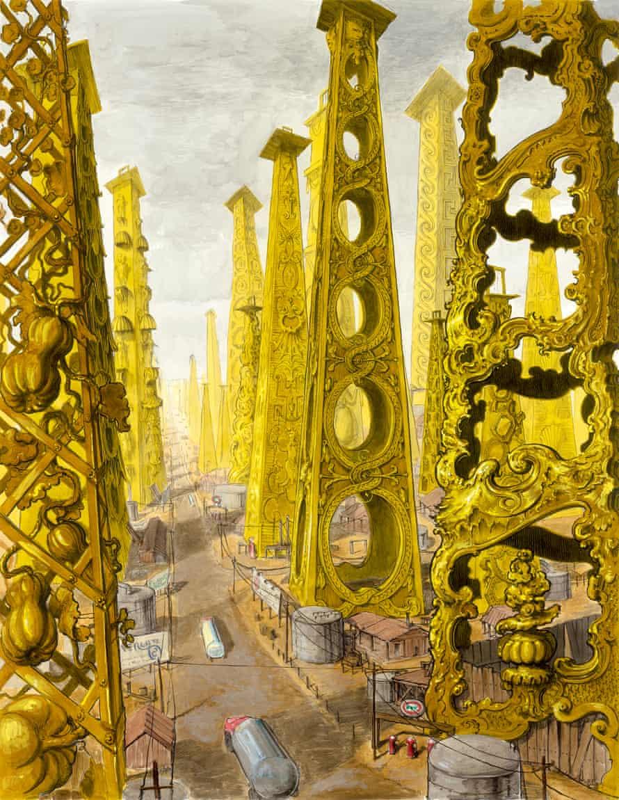 Unbridled ornamentation … Bronstein's Oil Wells.
