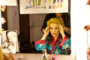 Louise Dearman in her dressing room in 2011. She was the first actor to play the roles of both Glinda and Elphaba in the West End.