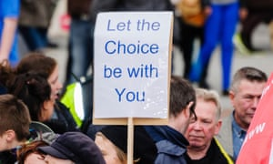 A pro-choice abortion campaigner in Northern Ireland: under current law, abortion is only legal in 'exceptional circumstances'.