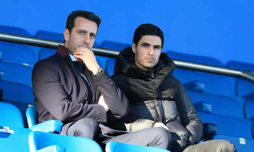 Arsenal's technical director Edu (left) has backed Mikel Arteta despite the team's poor start to the season.