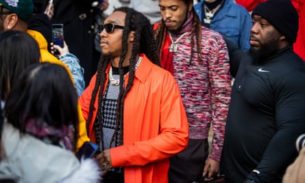 Takeoff of Migos in Paris, France, 17 January 2020.