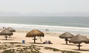 Beach at Ensenada, Mexico.
