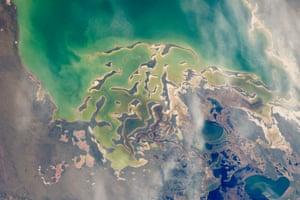 Lake Tengiz in northern Kazakhstan