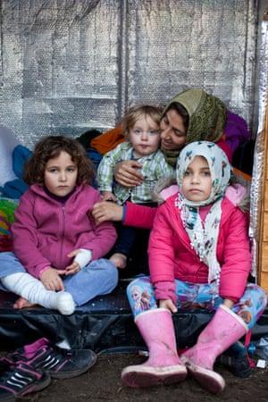 Hana, Leyla and Sara, with their neighbour's daughter