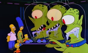 """A scene from The Simpsons Halloween story Hungry are the Damned"""