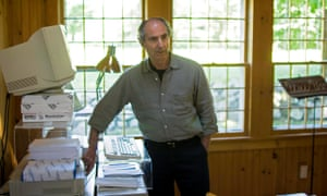 Doing away with drafts ... Philip Roth, powering up the computer in his home office, in 2005.