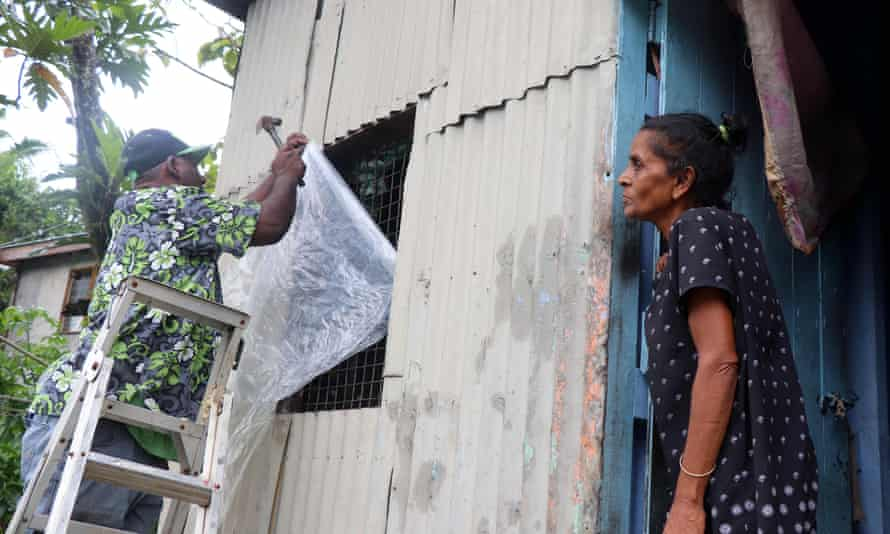 Fiji residents prepare for the arrival of Cyclone Yasa.