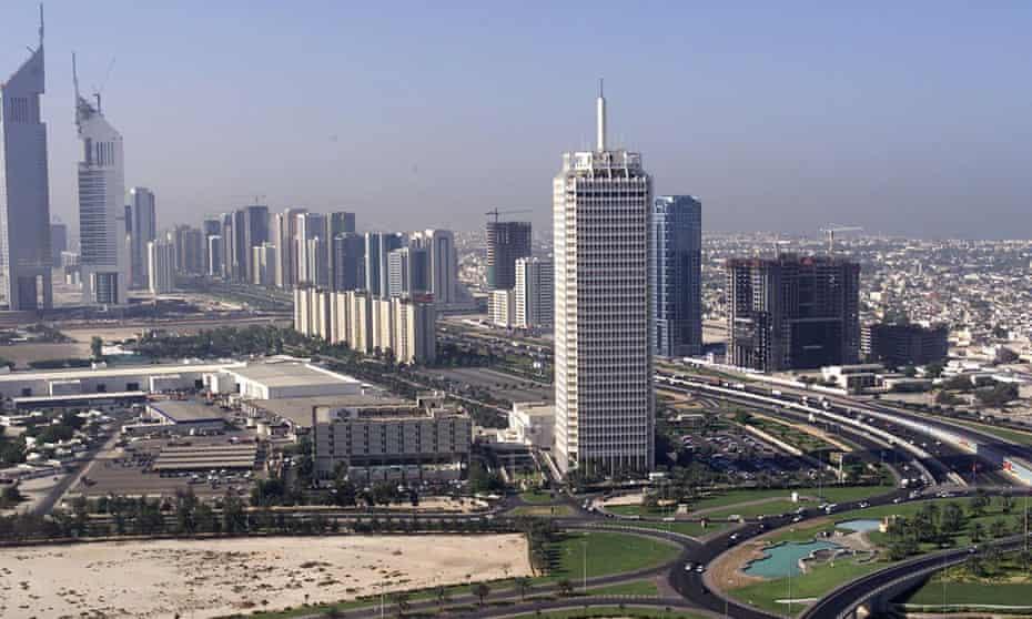 The Dubai World Trade Centre in 1999.