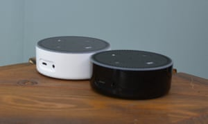 Amazon's Echo Dot voice controllers.
