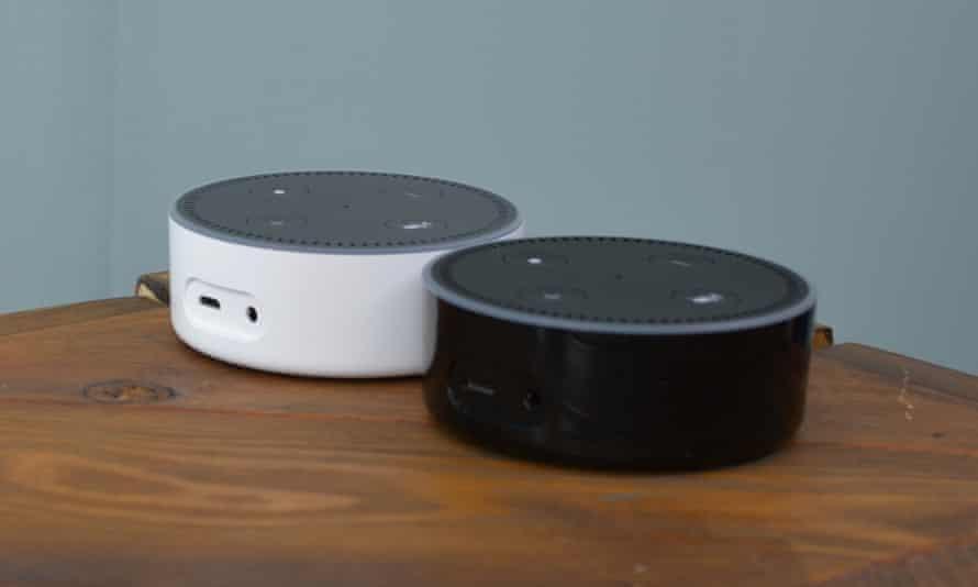 Amazon's Echo Dot voice controllers.