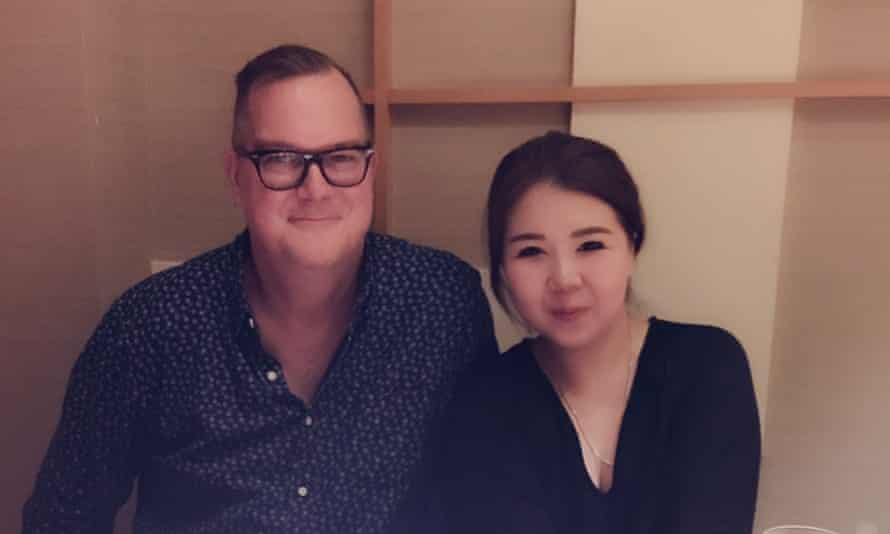 Jeff Sikkema and wife Jiang Ling, who was taken from their home in Shanghai following a police crackdown on gambling.