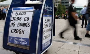 A London newspaper is sold near the offices of Lehman Brothers in Canary  Wharf  in London in 2008