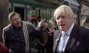 Johnson got a lukewarm reception on a walkabout in Morley, Yorkshire, where he was heckled by a protester who told him to 'please leave my town'.