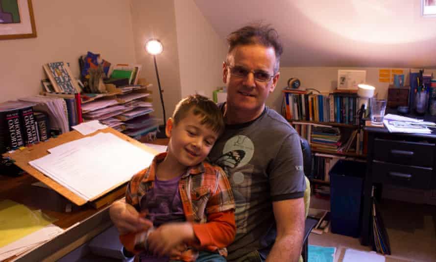 Sean Taylor with his son Rafa