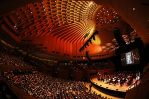 Sydney Opera House concert hall filled with people