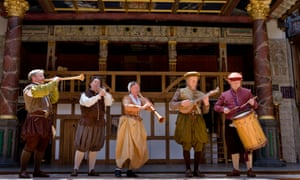 Musicians at the modern-day Shakespeare's Globe theatre.