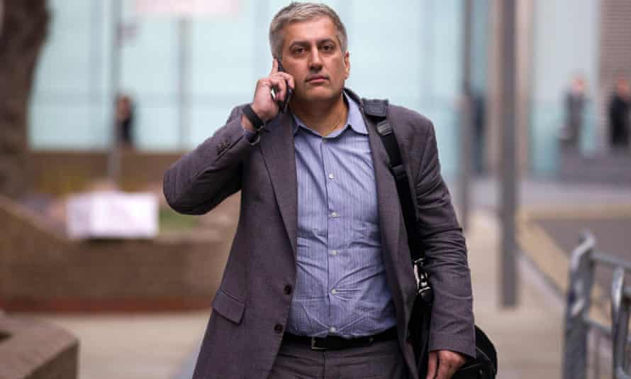 Libor trial: former Barclays employee Jay Vijay Merchant leaves Southwark crown court on Wednesday.