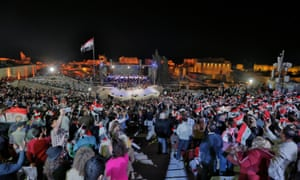 National day celebrations at the Aleppo citadel.