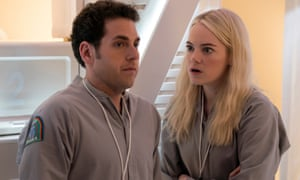 Jonah Hill and Emma Stone in Maniac.