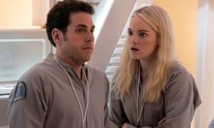 'The time of their talented lives' … Jonah Hill and Emma Stone.