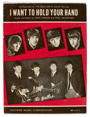 I Want to Hold Your Hand, sheet music, signed by all four Beatles Estimate: £6,000-£8,000